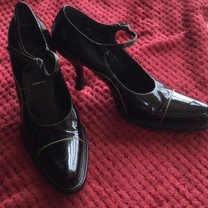 Vintage Prada Sz 39.5 Black Patent